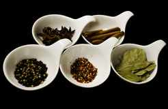 Dried Whole herbs and spices Royalty Free Stock Photos
