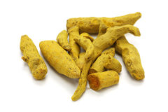 Dried whole turmeric Royalty Free Stock Photo