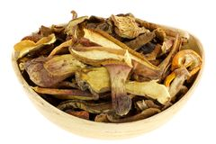 Dried Wild Bolete (Porcini) Mushrooms Royalty Free Stock Photography