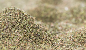 Dried Winter Savory (background image) Stock Photo