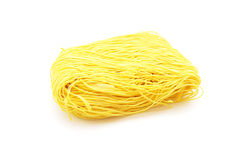 Dried yellow Chinese noodle Royalty Free Stock Image