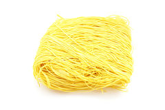Dried yellow Chinese noodle Stock Photo