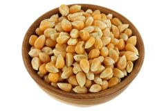 Dried yellow corn kernels Stock Photo