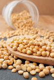 Dried yellow Peas Stock Photo