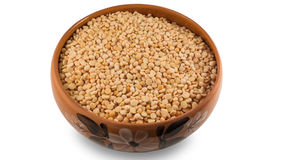 Dried yellow peas in a bowl Royalty Free Stock Photo