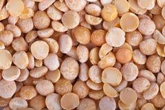 Dried yellow peas macro background Stock Photo