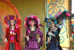 Driedaags van de dode Cijfers, Día DE los Muertos Stock Foto's