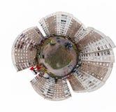 Driedimensioneel de stijl panoramisch beeld van de 360 graad miniplaneet Stock Foto's