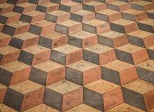 Driedimensioneel effect in steenvloer Stock Foto