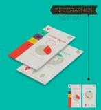 Driedimensioneel isometrisch concept met infographicselementen Royalty-vrije Stock Afbeelding