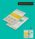 Driedimensioneel isometrisch concept met infographicselementen Stock Fotografie