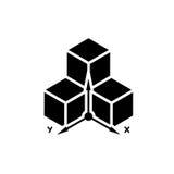 Driedimensioneel ontwerpsymbool Royalty-vrije Stock Afbeelding