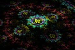 Driedimensionele bloemenfractal op dark Royalty-vrije Stock Foto