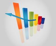 Driedimensionele grafiek stock illustratie