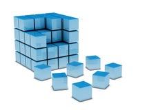 Driedimensionele Kubus Royalty-vrije Stock Afbeeldingen