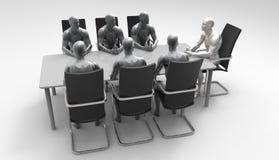Driedimensionele menselijke commerciële vergadering Stock Fotografie