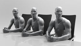Driedimensionele menselijke commerciële vergadering Royalty-vrije Stock Foto