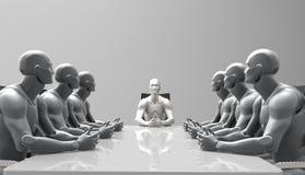 Driedimensionele menselijke commerciële vergadering Royalty-vrije Stock Afbeeldingen