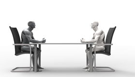 Driedimensionele menselijke overeenkomst Royalty-vrije Stock Foto