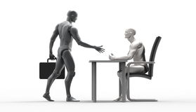Driedimensionele menselijke overeenkomst Stock Foto