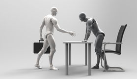 Driedimensionele menselijke overeenkomst Stock Foto's