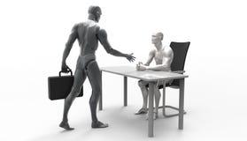 Driedimensionele menselijke overeenkomst Stock Afbeeldingen