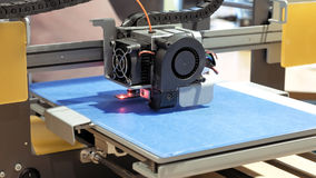 Driedimensionele plastic 3d printer Royalty-vrije Stock Afbeelding