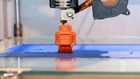Driedimensionele plastic 3d printer Stock Foto