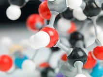 Driedimensionele vertegenwoordiging van moleculaire structuur Stock Afbeeldingen