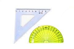 Driehoek en gradenboog Stock Afbeeldingen