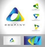 Driehoek Logo Concept Stock Foto
