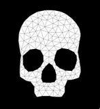 Driehoek-schedel-contour-wit Royalty-vrije Stock Afbeeldingen