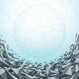 Driehoeken abstracte achtergrond Stock Illustratie