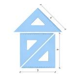 Driehoeken die in een huis worden geschikt Royalty-vrije Stock Afbeelding