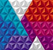 Driehoeken en Piramidesachtergrond Stock Foto