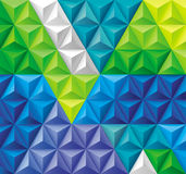 Driehoeken en Piramidesachtergrond Royalty-vrije Stock Foto