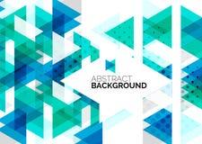 Driehoeken, geometrische schone abstracte achtergrond Stock Fotografie