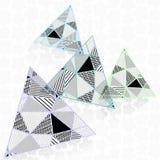 Driehoeken in lage polystijl Stock Afbeelding