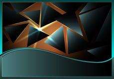 Driehoeken met lensgloed Stock Illustratie