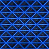 Driehoeken van zwarte steen met blauwe hete stroken van energie Naadloze VectorTextuur Het naadloze patroon van de technologie Royalty-vrije Stock Fotografie