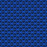Driehoeken van zwarte steen met blauwe stroken van energie Naadloze VectorTextuur Het naadloze patroon van de technologie Vector  Royalty-vrije Stock Foto