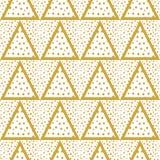 Driehoekenachtergrond met gouden naadloze Punten Royalty-vrije Stock Afbeelding