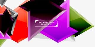 Driehoekig laag polyontwerp als achtergrond, multicolored driehoeken Vector stock afbeeldingen