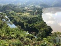 Driehoekig land langs de Mekong Rivier Royalty-vrije Stock Afbeelding
