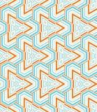 Driehoekig mozaïek Stock Afbeeldingen