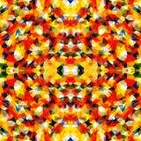 Driehoekig Mozaïek Oranje BackgroundÂŒ Royalty-vrije Stock Foto's