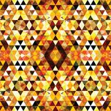 Driehoekig Mozaïek Oranje BackgroundÂŒ Stock Foto