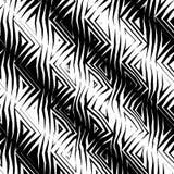 Driehoekig StammenPatroon b&w Royalty-vrije Stock Foto's