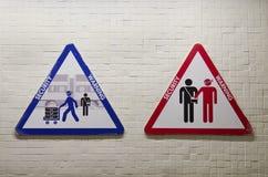 Driehoekig teken om over het risico te waarschuwen om worden geroofd Royalty-vrije Stock Foto