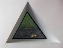 Driehoekig venster Royalty-vrije Stock Fotografie